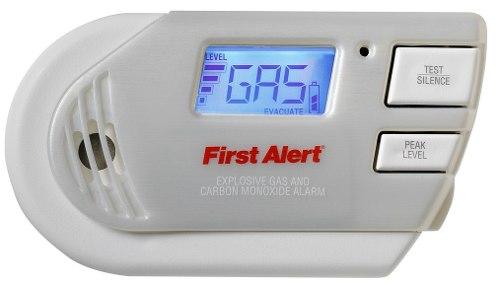 Detector de gas y mon xido de carbono gc01 first alert for Detector de gas natural