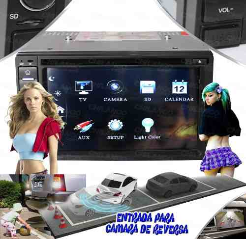 Autoestereo Touch 2din  Bluetooth Sd Usb Camra Reveresa