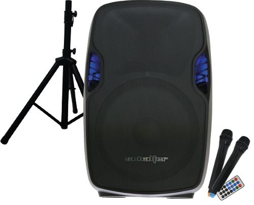 Bafle Bocina Amplificada 15   Bluetooth 2 Mic Inalambricos
