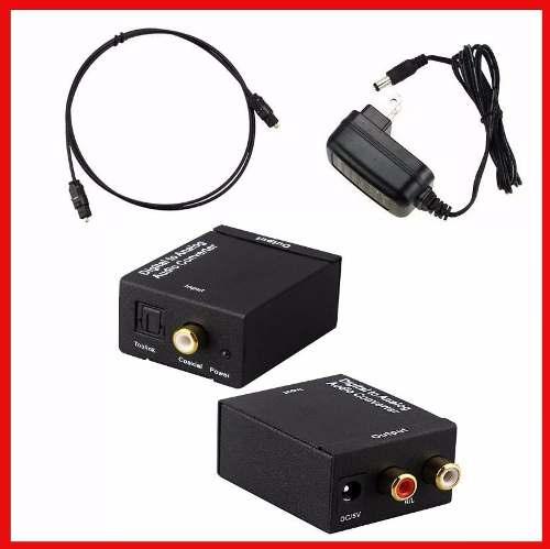 Convertidor Audio Digital Toslink Coaxial A Rca Análogo L/r