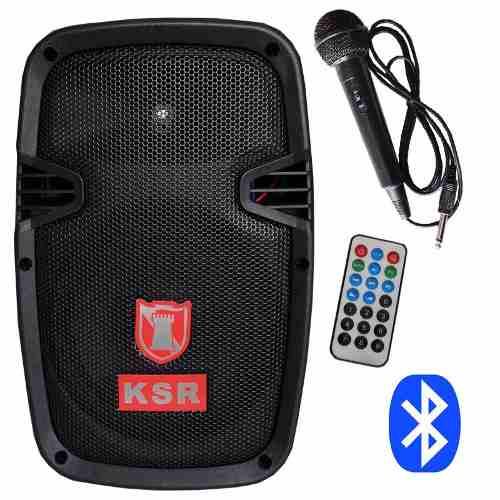 Bafle Bocina Amplificado Recargable 8  Bluetooth Y Microfono