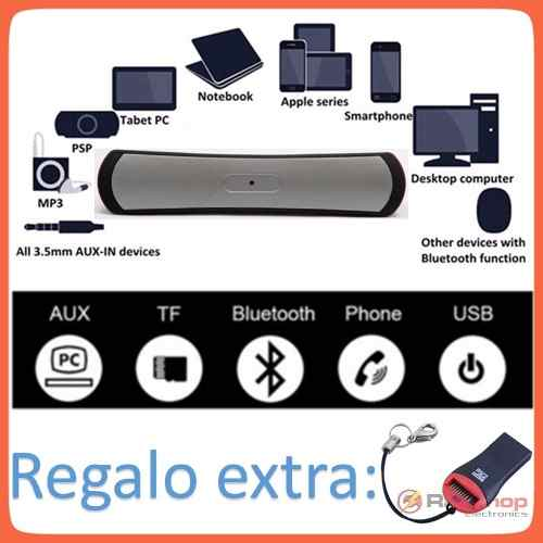Bocina Speaker Bluetooth Recargable C/usb