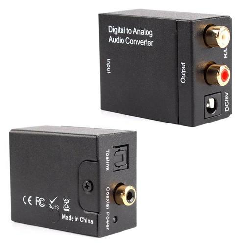 Convertidor Audio Digital Toslink Coaxial A Rca