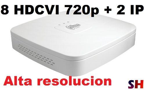 Dvr Dahua 8 Canales + 2 Ip Hdcvi Monitoreo Internet P2p
