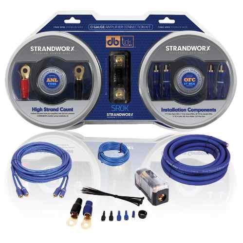 Kit De Instalacion Cables Calibre 0 Db Link 3500w Sr0k Cobre
