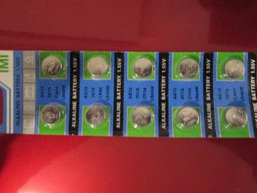 Paquete 10 Pilas Alcalinas Boton Ag10 / 389a / Lr1130