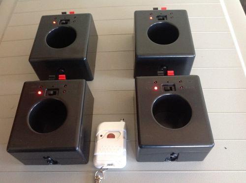 Pirotecnia Sistema Electronico Remoto  D 4 Bases Y 1 Control