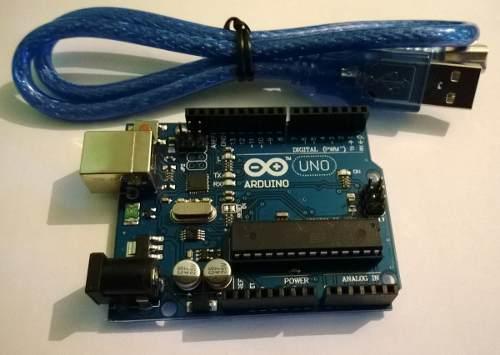 Tarjeta Arduino Uno R3  Microcontrolador Atmega3 Con Cable