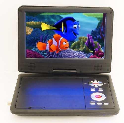 Tv Digital Hd Portatil Pantalla Lcd 9 A Color Con Dvd Usb