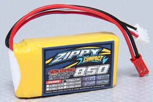 Bateria Lipo 850mah 7.4v 2s 25c Zippy Compac Recargable Pila en Web Electro