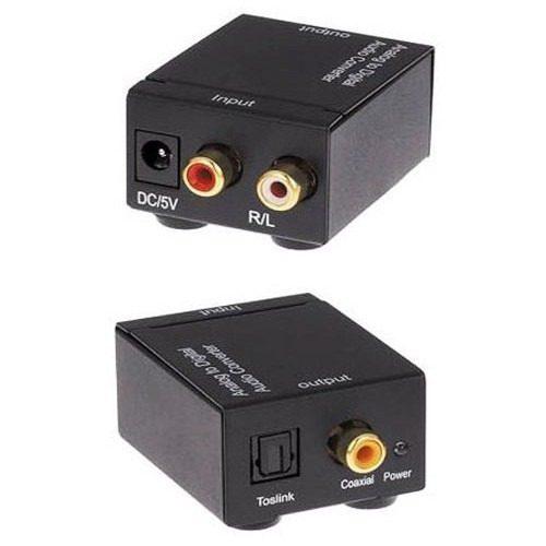 Convertidor De Audio Digital Toslink Óptico Coaxial Rca 3.5 en Web Electro