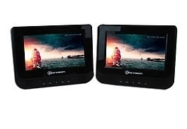 Dvd + Monitor 7 Pulg Para Cabecera De Auto Correa Ajustable en Web Electro