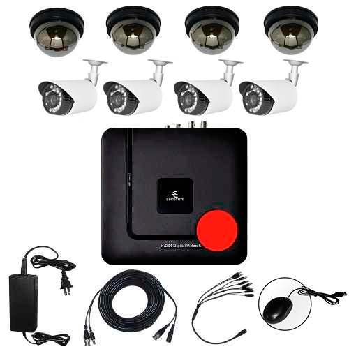 Kit Cctv Ahd Analogo Dvr 8 Camaras Seguridad Videovigilancia