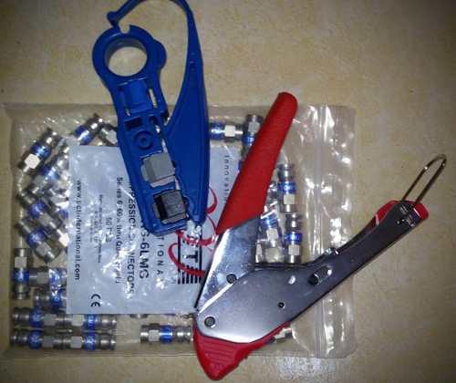 Kit De Instalacion Para Cable Rg6 Y Rg59 en Web Electro