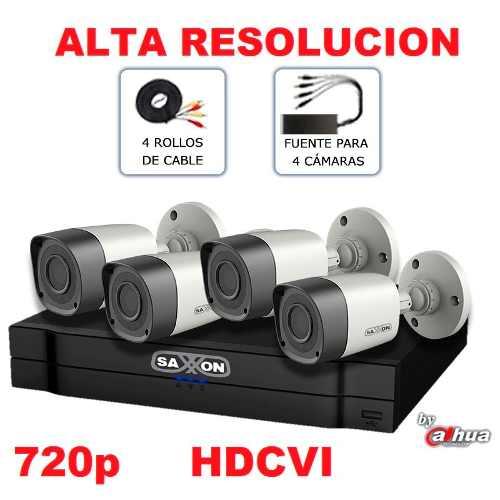 Kit Hd 720p Nueva Tecnologia Hdcvi Videovigilancia 4 Camaras en Web Electro