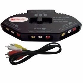 Switch 3 Puertos Av Rca Video Xbox Juegos en Web Electro