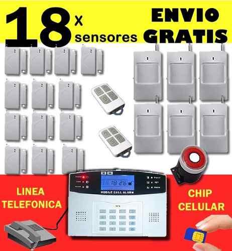 Alarma inalambrica casa negocio chip gsm y linea telefonica - Poner linea telefonica en casa ...