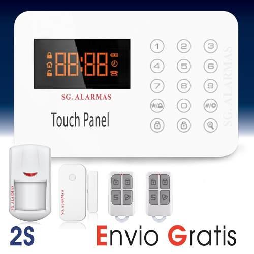 Alarma Touch Digital Seguridad Casa Negocio Vía Celular en Web Electro