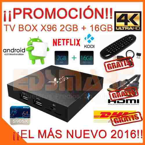 Android Tv Marshmallow 6.0 16gb 2gb 4k Teclado +3 Regalos en Web Electro