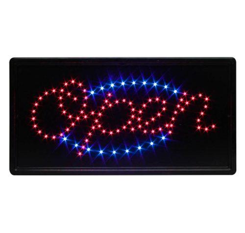 Anuncio Luminoso Open Letrero Led De Abierto Parpadeante en Web Electro
