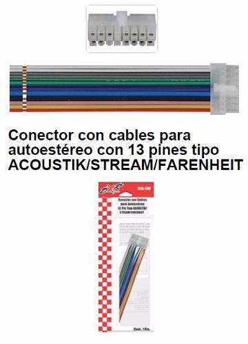 Arnés Para Autoestéreo Dvd Soundstream Acoustik Farenheit en Web Electro