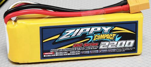 Bateria Lipo 2200mah 11.1v 3s 25c Zippy Compact Dji