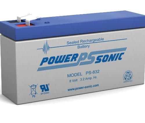 Batería Pila Sellada Ps-832 8 Volts 3.2 Ah Power Sonic