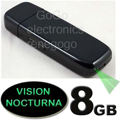 Camara Espia Spy Usb Hd Con Vision Noctura Lente Sony 8gb
