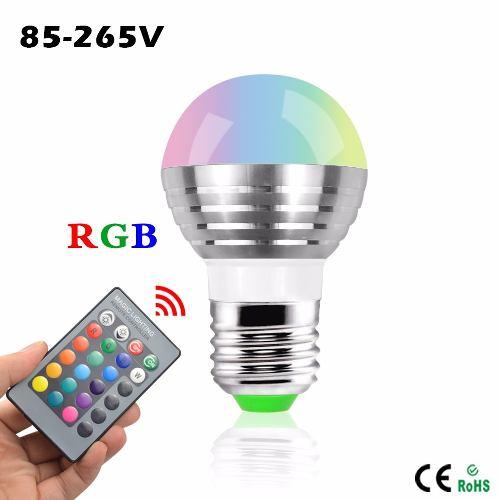Foco Luz Led 3w 16 Colores Con Control Remoto Rosca A 110v en Web Electro