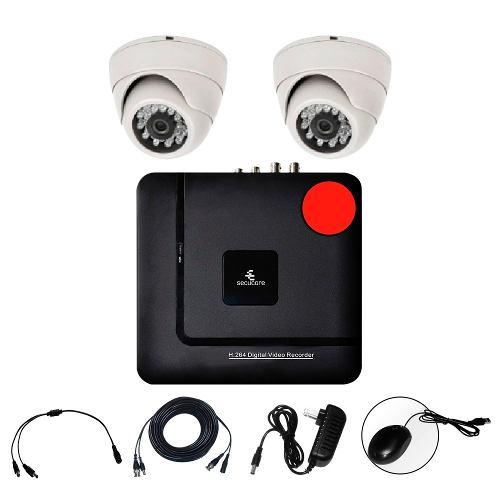 Kit Cctv Ahd Video Hd 720p Dvr 2 Camaras Circuito Vigilancia en Web Electro