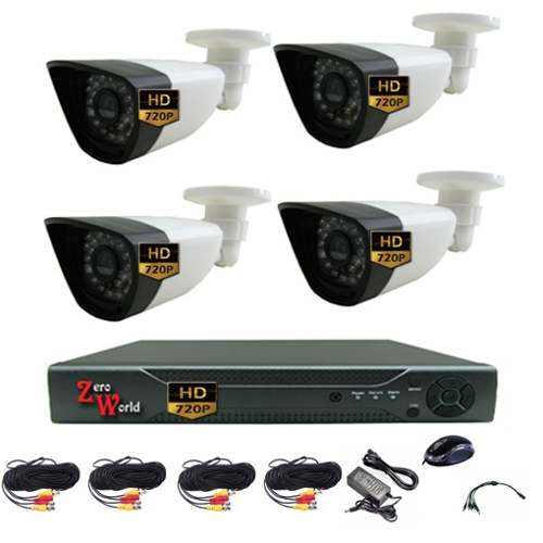 Kit Video Grabador Digital 4 Camara Bullet Cctv Hdmi Dvr Ahd en Web Electro