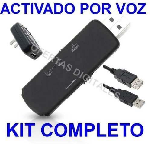 Microfono Espia Usb Grabadora Se Activa Al Detectar Voz 8 Gb