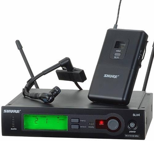 Micrófono Inalámbric Shure Slx Beta98h Acordeón Trompeta Sax