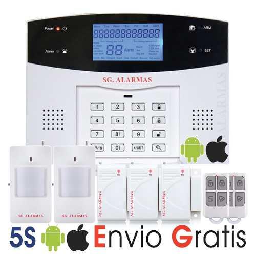 Nueva Alarma Gsm Dual Inalámbrica Casa Negocio Oficina App en Web Electro