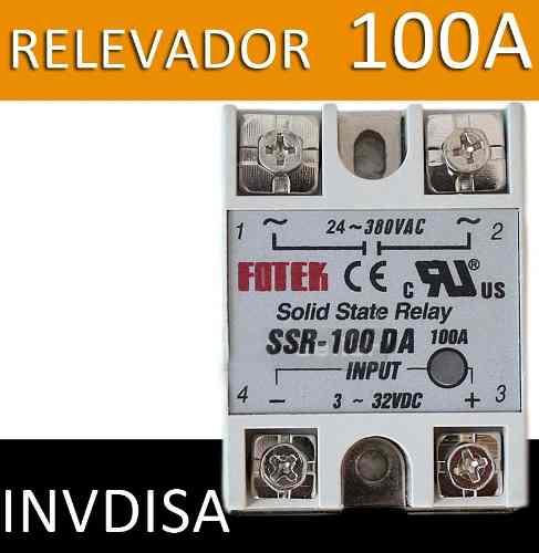 Relevador De Estado Sólido Ssr-100da 100a/250v 3-32vdc 100a en Web Electro