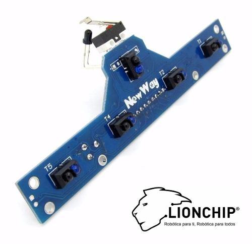 Sensor Infrarrojo Seguidor Sigue Línea Bfd-1000 Qrd 5 Canale
