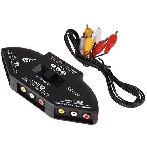 Switch Selector Hasta 3 Puertos Av Rca Video Xbox Juegos en Web Electro