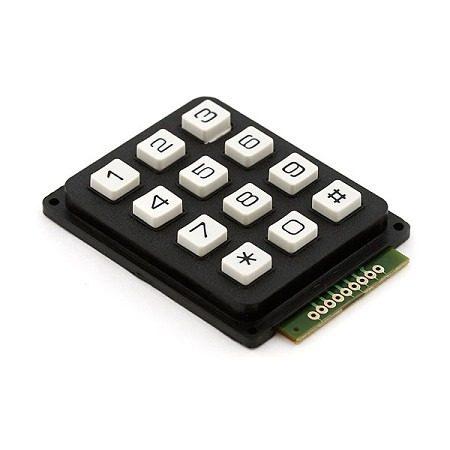 Teclado Matricial – 12 Botones en Web Electro