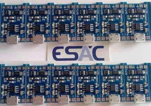12 Piezas Módulo Cargador Baterías Litio Tp4056 Micro Usb en Web Electro