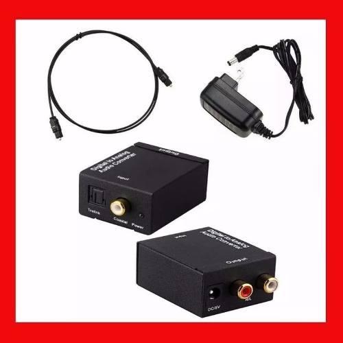 Adaptador Convertidor Audio Digital Toslink Rca + Regalos en Web Electro