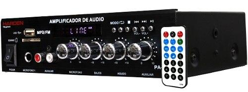 Amplificador Publidifusion Usb/sd/fm/aux/mic Stereo en Web Electro