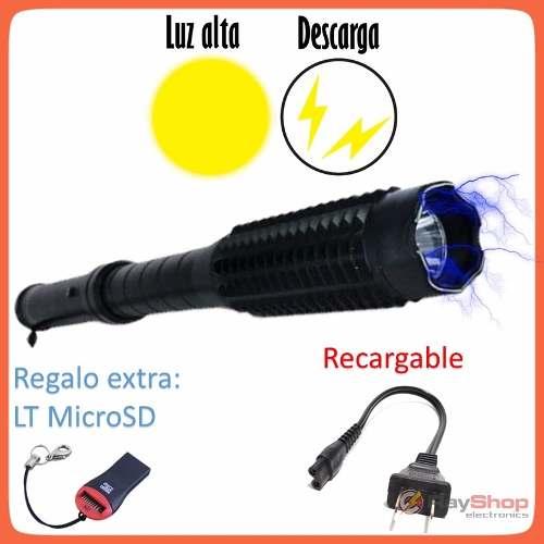 Baston Tolete Lamp Taser Paralizador Inmovilizador Stungun