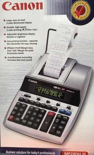 Cannon Calculadora Mod. Mp20dh Iii en Web Electro