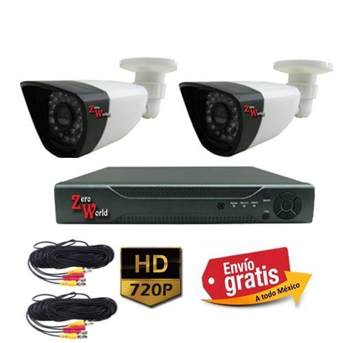 Kit Cctv 2 Camaras1800 Tvl Videovigilancia Circuito Cerrados en Web Electro