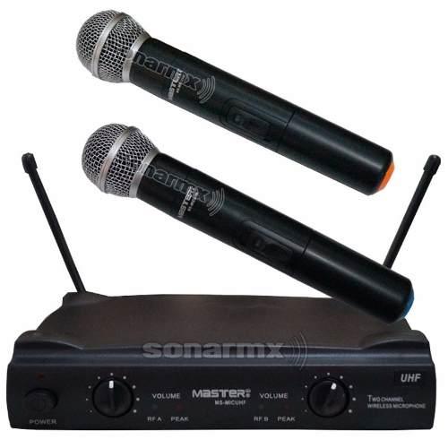 Par De Microfonos Inalambricos Uhf Gran Calidad Y Alcance