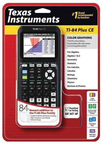 Texas Instruments Ti-84 Plus Ce Calculadora Grafica En Negro |