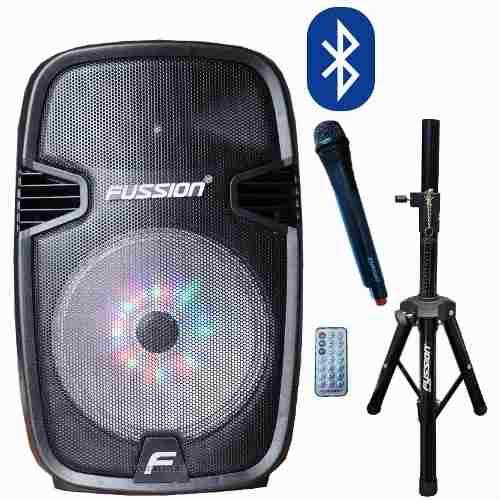 Bafle Bocina Recargable Amplificado Con Bluetooth+mic+tripie